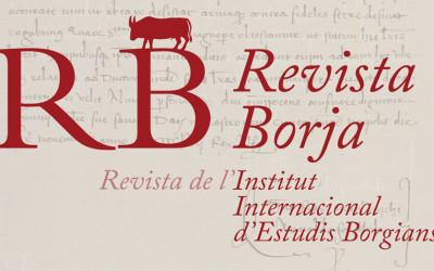 Es publica el número 6 de la Revista Borja. Revista de l'IIEB