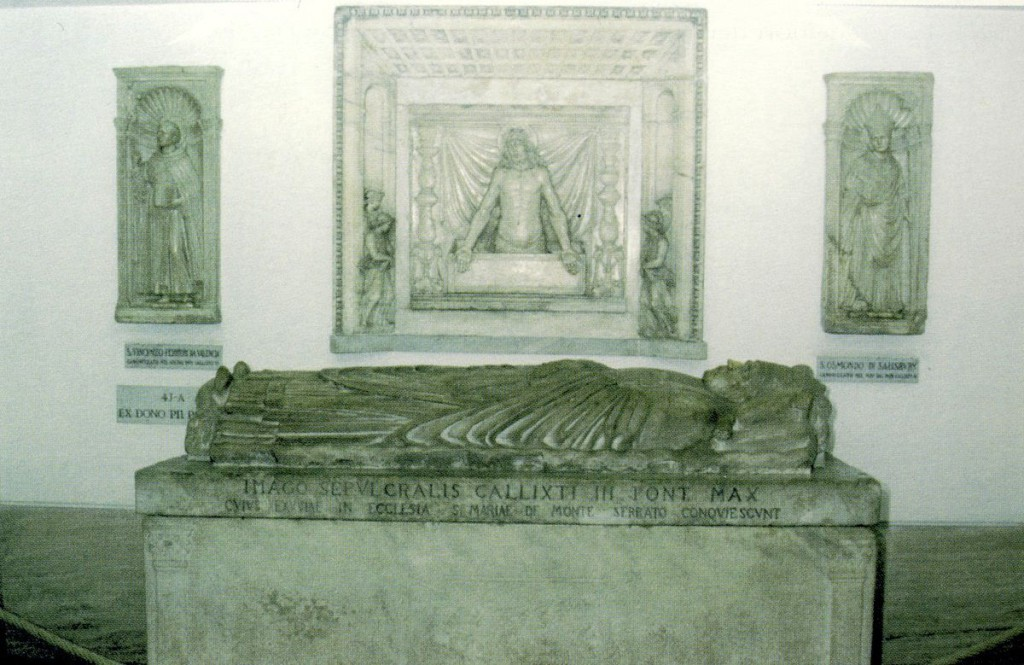 Sepulcre del papa Calixt (Grotte Vaticane).