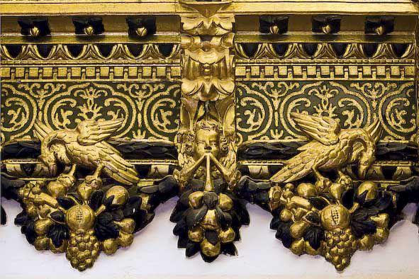 Detall del saló d'Àguiles. Gandia, palau ducal. Foto: Natxo Francés.