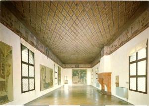 Casa Romei. Sala d'honor amb el magnífic enteixinat.