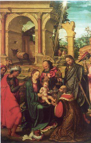 Adoració dels Reis (Paolo da San Leocadio).