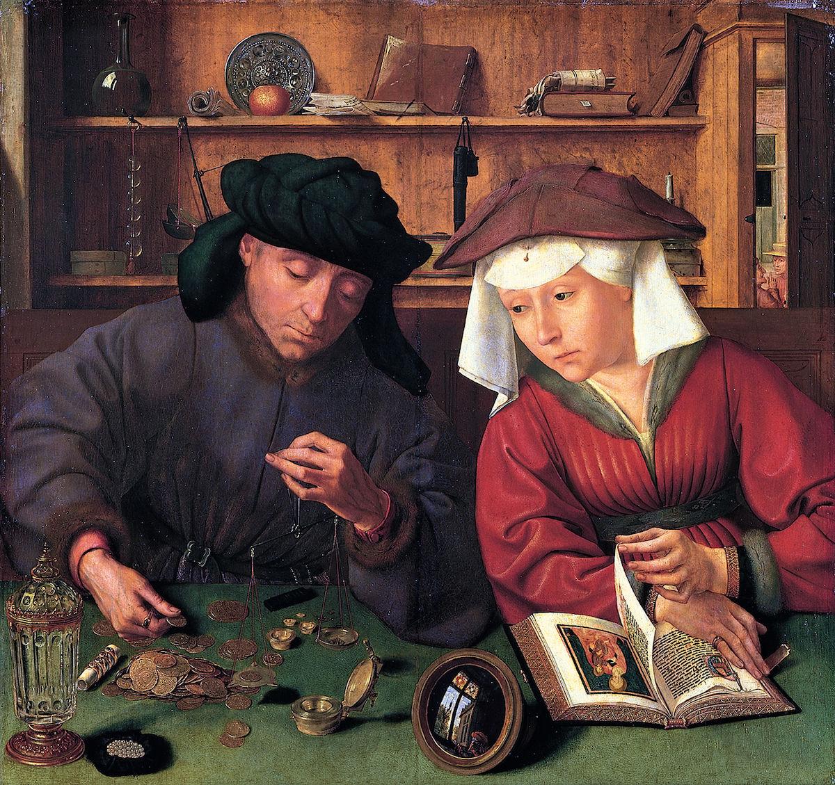 Quentin Matsys, El canvista i la seva dona. Font: Wikimedia Commons