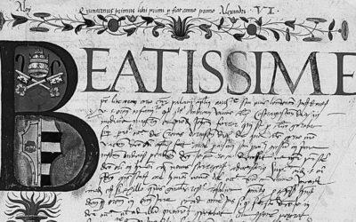 """La base de dades """"Alexandre VI dominus beneficiorum"""" arriba a les 2.000 fitxes"""